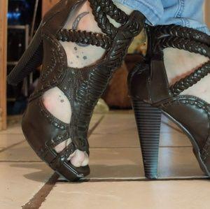 Brown Platform Heels
